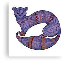 purple furry fuzzy ferret Canvas Print