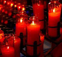 Candles at Mission San Juan Capistrano by meta4ic