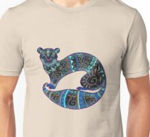 slinky black Ferret Unisex T-Shirt