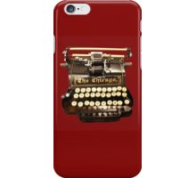 VINTAGE TYPEWRITER T-SHIRT iPhone Case/Skin