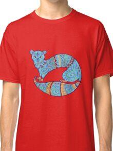 Turquoise Fuzzy Ferret Classic T-Shirt