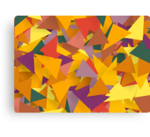 Colourful Triangles Canvas Print
