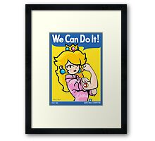 We can do it, game girls! Framed Print