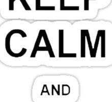 Keep Calm and Eat Macarons Sticker