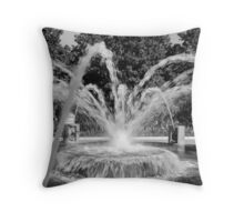 Waterfront Fountain #2, Charleston, SC Throw Pillow