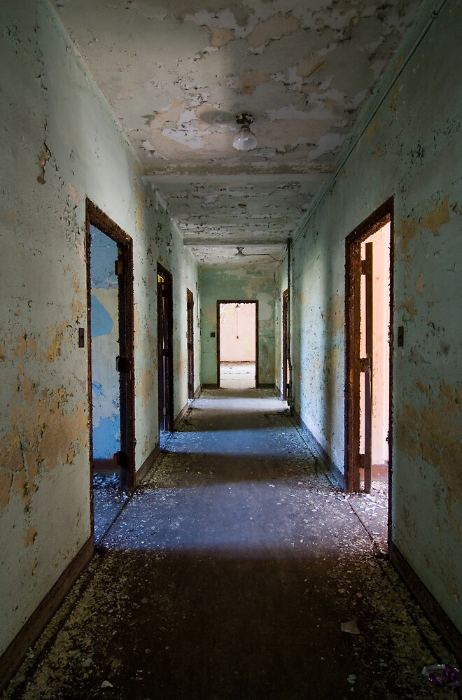 asylum hallway by rob dobi