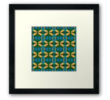 Green, Blue and Yellow Pattern Framed Print
