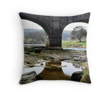 Barden Bridge, North Yorkshire Throw Pillow