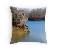 Stone Quarry Turned Swimming Hole Throw Pillow