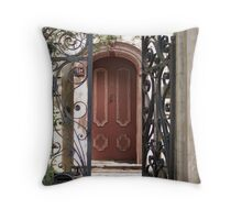 Charleston Door & Iron Gate Throw Pillow