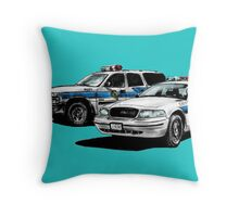 American Police Cars Throw Pillow
