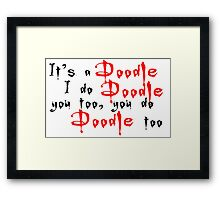 It's a doodle ... Willow - White Framed Print