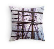 Charleston Tall Ship Throw Pillow