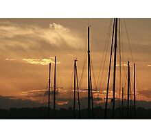 Rigging sunset Photographic Print