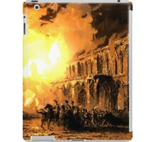 The Burning of Elgin Cathedral June 1390 - all products bar duvet iPad Case/Skin