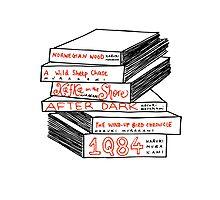 Haruki Murakami Book Stack Photographic Print
