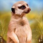 The Sentry - Meerkat Painting by Michelle Wrighton