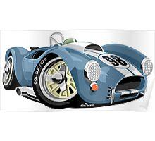 AC Cobra 289 blue Poster