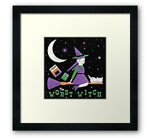 The Worst Witch Framed Print