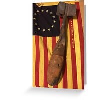 Old Flag and Bomb - State Pallets Greeting Card