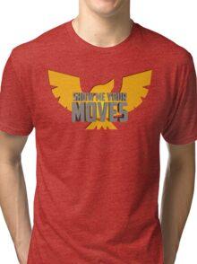 SHOW ME YOUR MOVES! - Captain Falcon Tri-blend T-Shirt