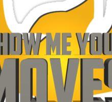 SHOW ME YOUR MOVES! - Captain Falcon Sticker