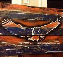 Auburn Themed Eagle - State Pallets by Statepallets