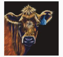 Lucky Number Seven Cow Painting Baby Tee