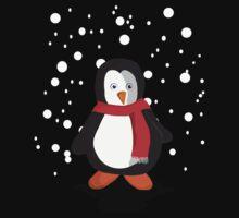 Penguin in the snow Baby Tee
