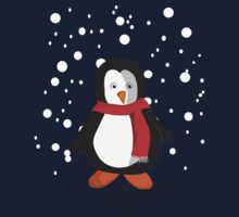 Penguin in the snow One Piece - Short Sleeve