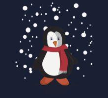 Penguin in the snow Kids Tee