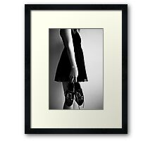 Little shoes Framed Print