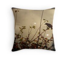 Bird in the Bush Throw Pillow
