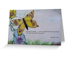 God Created Every Living Creature Greeting Card