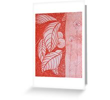 Citrus in red Greeting Card