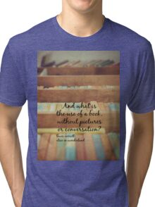 Alice Wonderland Book Tri-blend T-Shirt