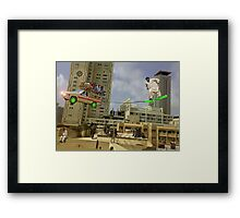Karachi Skyboarding Competition Framed Print