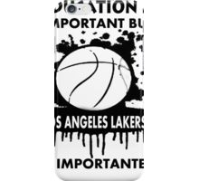 EDUCATION IS IMPORTANT - LOS ANGELES LAKERS iPhone Case/Skin