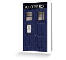Doctor Who Police Box Greeting Card