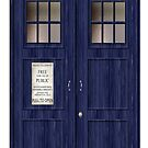 Doctor Who Police Box by Tony  Bazidlo