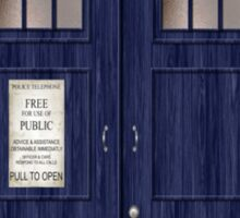 Doctor Who Police Box Sticker