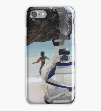 goggles on beach iPhone Case/Skin