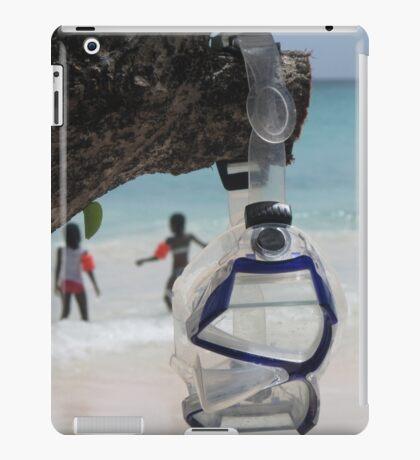 goggles on beach iPad Case/Skin
