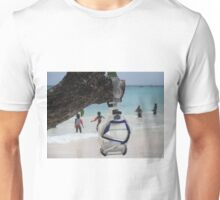 goggles on beach Unisex T-Shirt