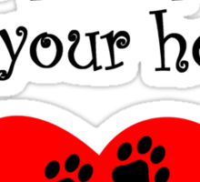 Cocker Spaniels Leave Paw Prints On Your Heart Sticker