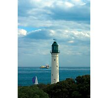 The White Lighthouse at Queenscliff, Australia Photographic Print