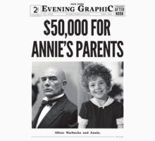 ANNIE Newspaper Kids Tee