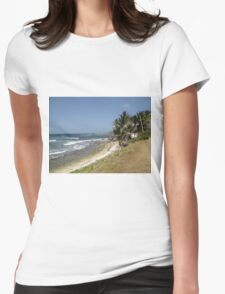 tropical landscape Womens Fitted T-Shirt
