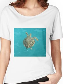 Swimming Turtle Women's Relaxed Fit T-Shirt