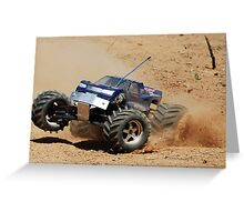 Traxxas on red dirt Greeting Card